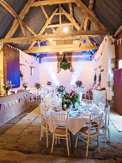 Barn wedding venue near Towcester and Brackley